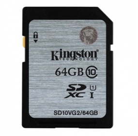 Paměťová karta Kingston SDXC 64GB UHS-I U1 (45R/10W)