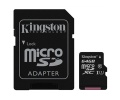 Paměťová karta Kingston MicroSDXC 64GB UHS-I U1 (45R/10W) + adapter