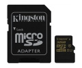 Paměťová karta Kingston MicroSDHC 32GB UHS-I U3 (90R/45W) + SD adapter