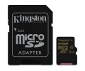 Paměťová karta Kingston MicroSDXC 64GB UHS-I U3 (90R/45W) + SD adapter