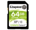 Paměťová karta Kingston Canvas Select SDXC 64GB UHS-I U1 (80R/10W)