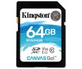 Paměťová karta Kingston Canvas Go! SDXC 64GB UHS-I U3 (90R/45W)